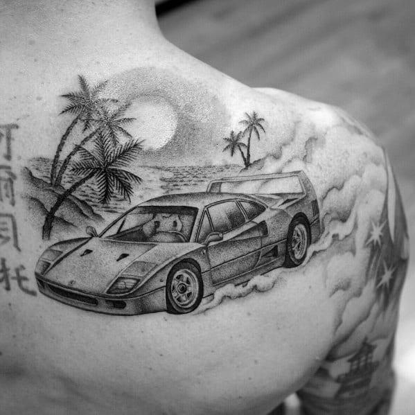 Ferrari Tattoo Ideas For Men
