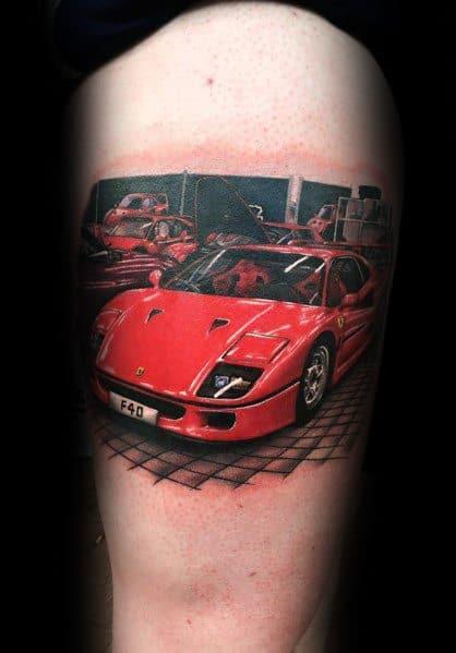 Ferrari Tattoo Inspiration For Men