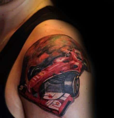 Ferrari Tattoos For Gentlemen