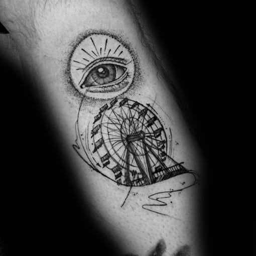 Ferris Wheel Male Tattoos