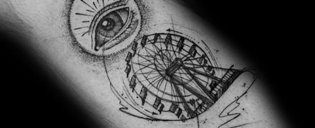 Ferris Wheel Tattoo Ideas For Men