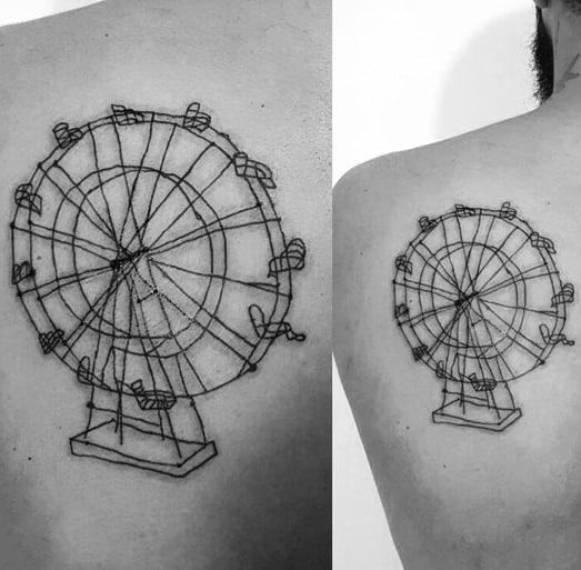 Ferris Wheel Tattoo Inspiration For Men