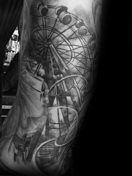 Ferris Wheel Tattoos For Gentlemen