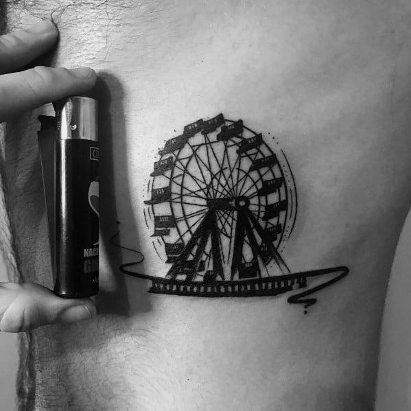Ferris Wheel Tattoos For Men