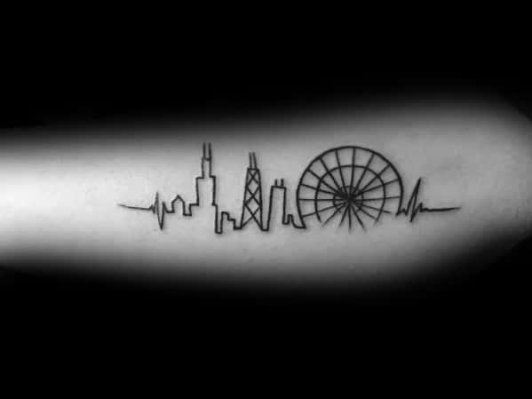 Ferris Wheel Themed Tattoo Ideas For Men