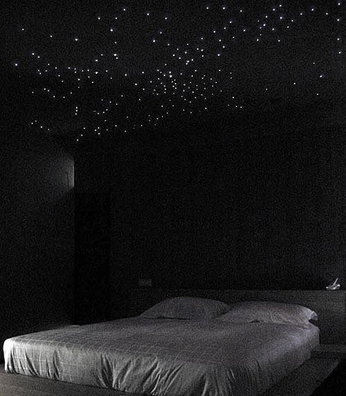 Fiber Optic Star Ceiling Interior Designs Bedroom Lighting