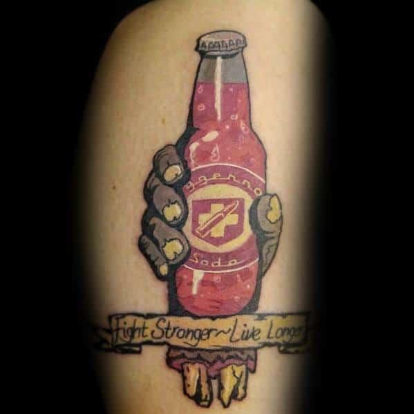 Fight Stronger Live Longer Bottle =guys Tattoo Call Of Duty