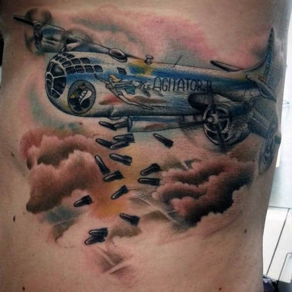 Fighter Plane Tattoos For Men