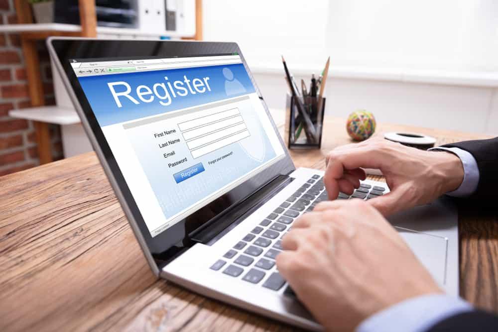 filing online registration form