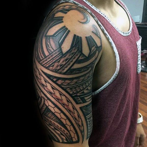 f60e1406b 50 Filipino Sun Tattoo Designs For Men - Tribal Ink Ideas