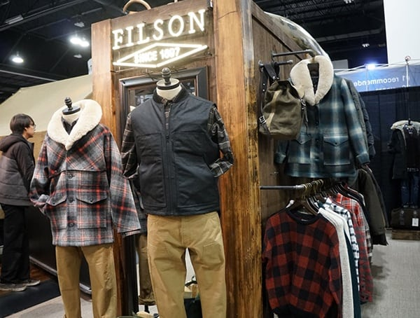 Filson Clothing Display Outdoor Retailer Winter Market 2018