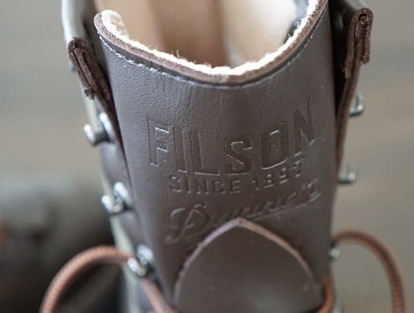 Filson X Danner Tounge Embossed Leather Detail Mens Grouse Boots