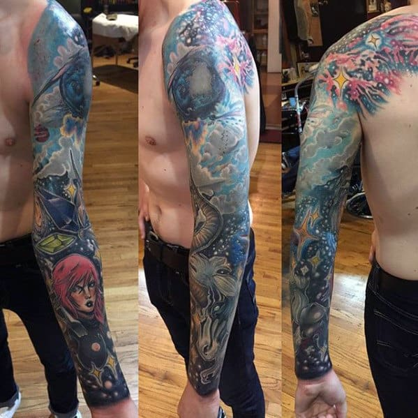 final fantasy full sleeve tattoo ideas for guys