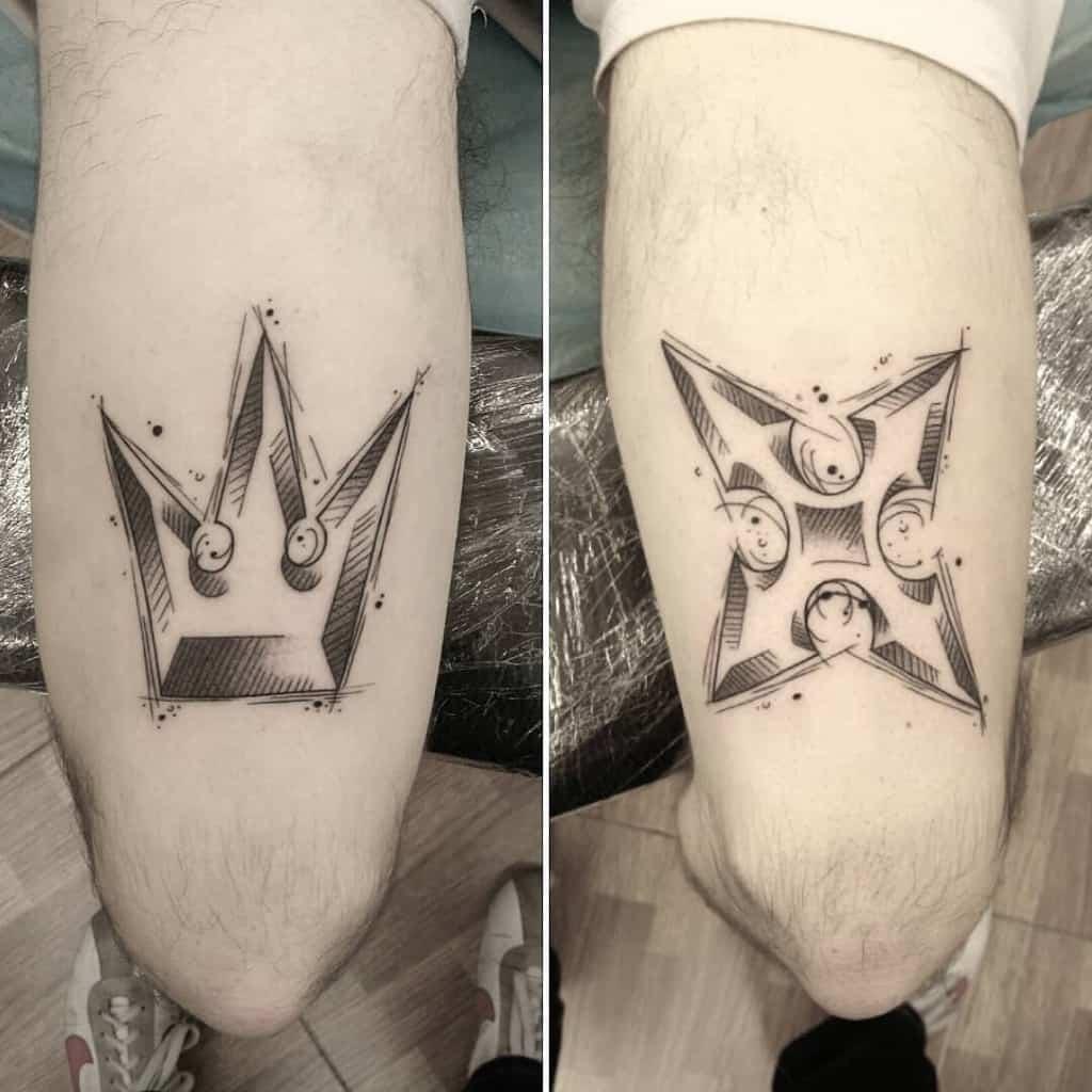 Fine Line Kingdom Hearts Tattoo