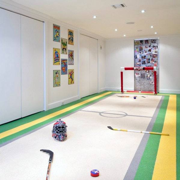 Finished Basement Hockey Carpet Floor Ideas