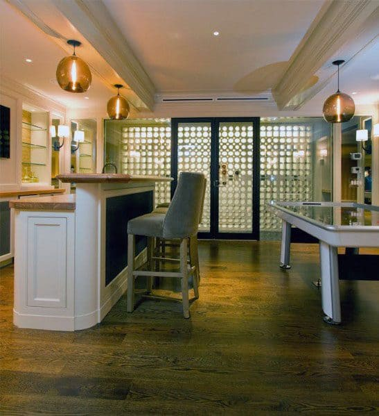 Finished Basement Ideas With Wine Storage And Bar