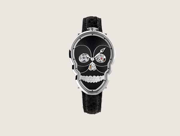 Fionakruger Timepieces Petit Skull Black Cool Watches For Men