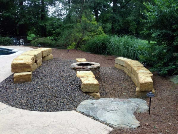 Fire Pit Cool Gravel Landscaping