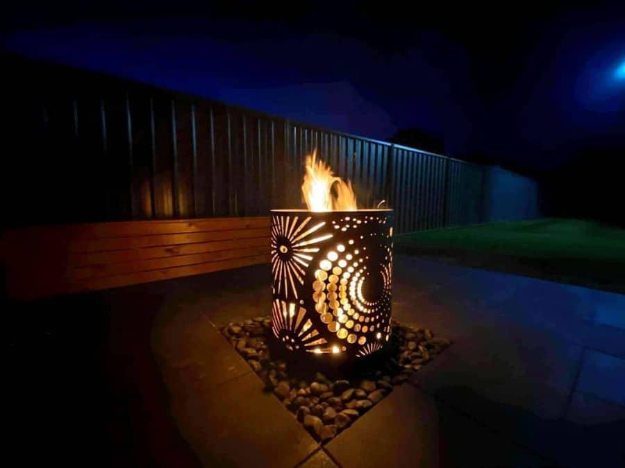 fire pit garden decor ideas ironbarkmetaldesign_