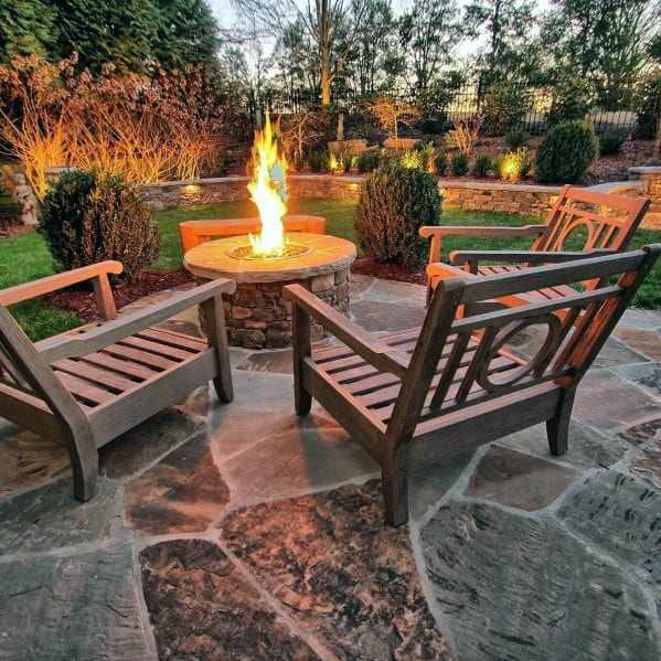 Fire Pit Home Flagstone Patio Ideas