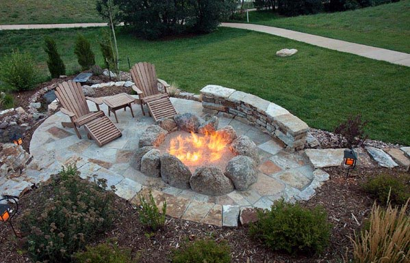 Fire Pit Ideas For Flagstone Patio Backyard