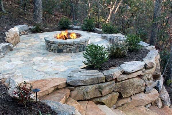 Fire Pit Landscaping - Top 50 Best Fire Pit Landscaping Ideas - Backyard Designs
