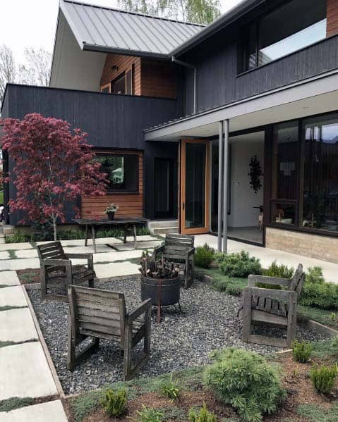 Fire Pit Landscaping Design Idea Inspiration
