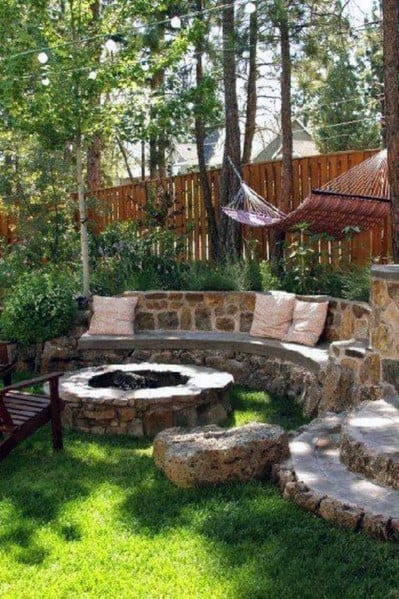 Fire Pit Seating Cool Backyard Ideas
