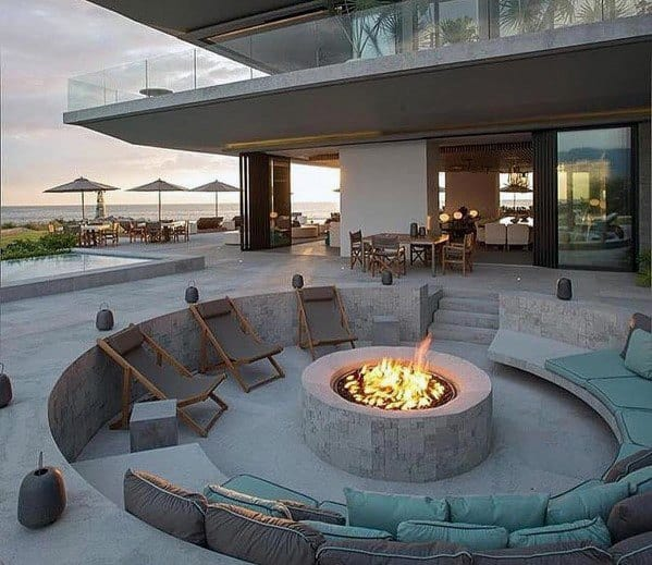Fire Pit Seating Design Idea Inspiration