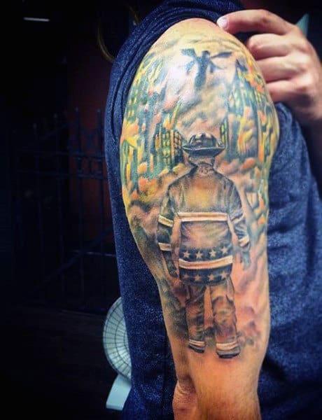 Firefighter Sayings Tattoos For Gentlemen
