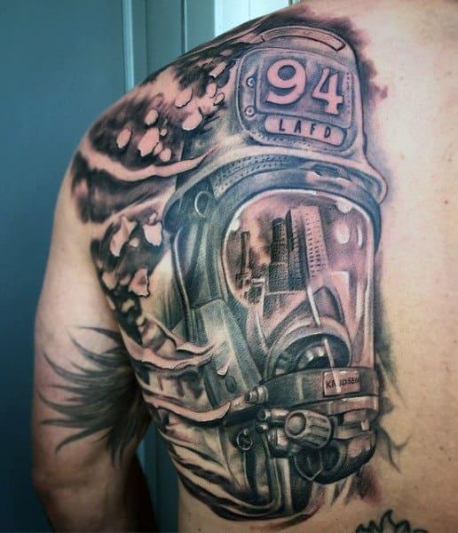 Firefighter Tattoo Sleeve For Men