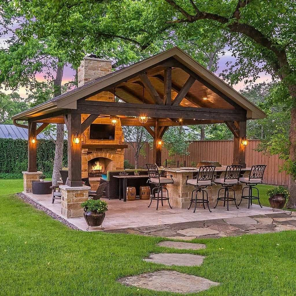 fireplace covered patio ideas homedecor_connoisseur
