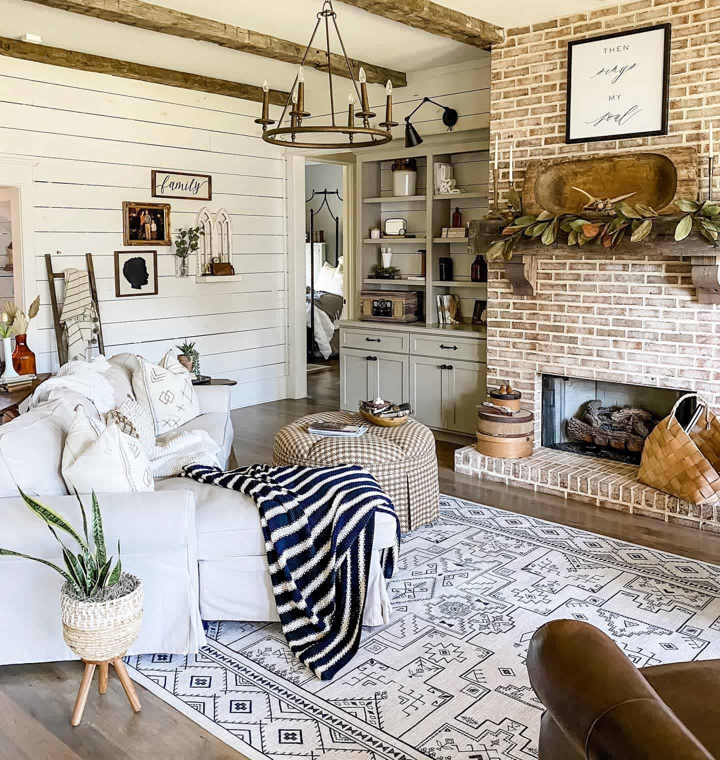 Fireplace Decor Farmhouse Living Room Ideas Mcpetersfarmhouse