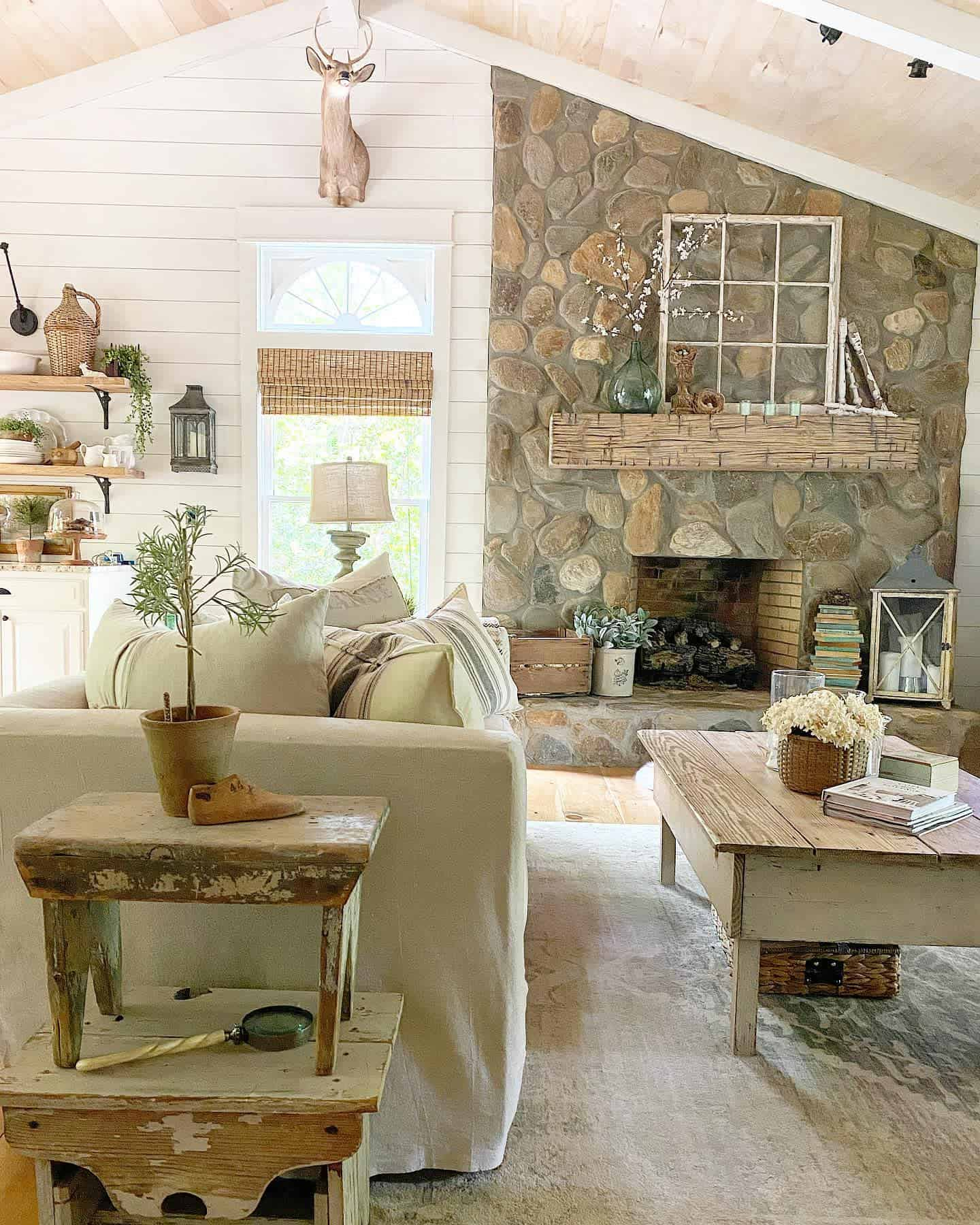 Fireplace Decor Farmhouse Living Room Ideas Vintagewhisperer