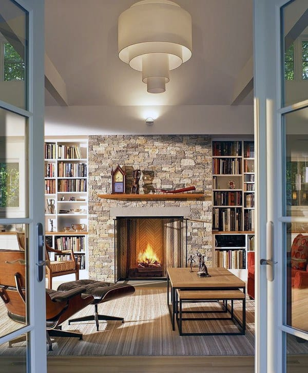 Fireplace Design Ideas With Stone