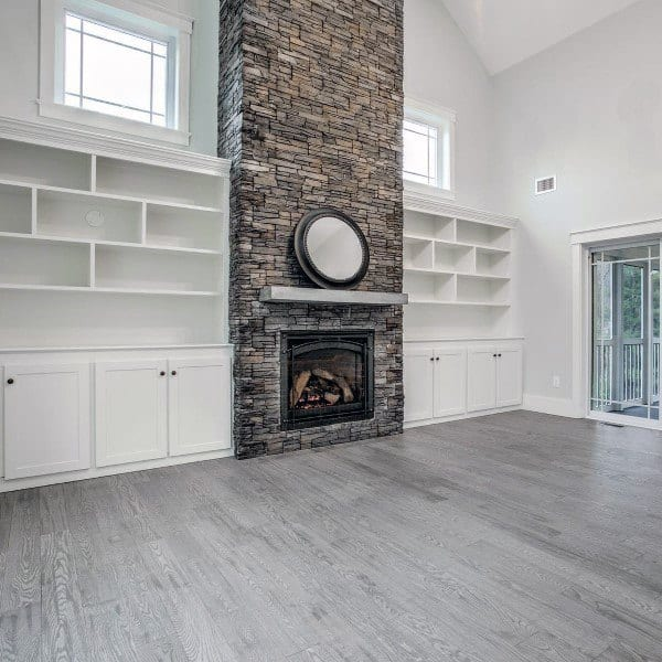 Fireplace Design With Stone