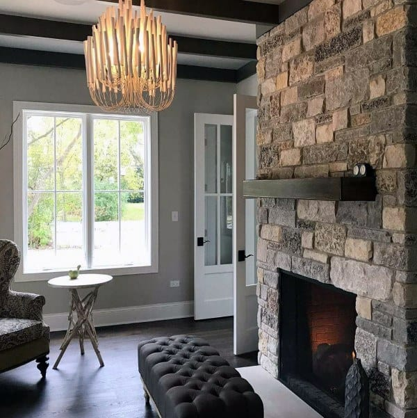 Fireplace Designs Mantel With Stone