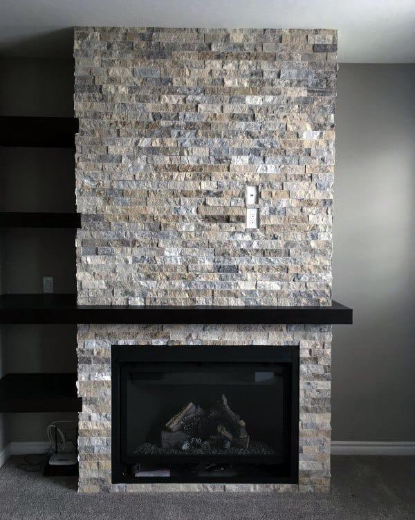 Fireplace Designs Stone Indoor