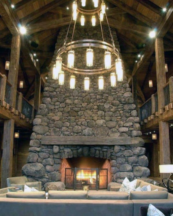 Fireplace Designs With Stone & Top 70 Best Stone Fireplace Design Ideas - Rustic Rock Interiors
