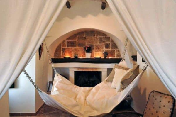 Fireplace Hanging Bed Ideas