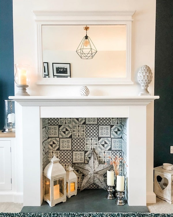 Fireplace Makeover Mantel Decor Ideas Thelittle White House