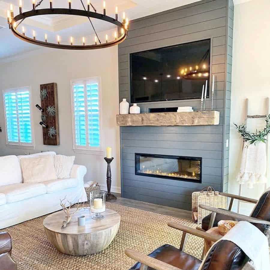 The Top 70 Modern Farmhouse Living Room Ideas - Interior ...