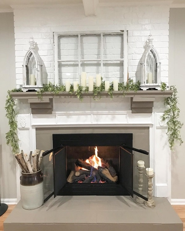Fireplace Renovation Mantel Decor Hidden Country Home