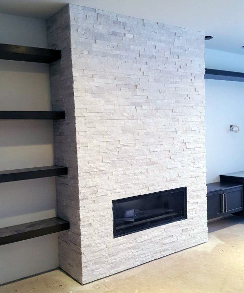 Fireplace Surround Tile Ideas Full Wall