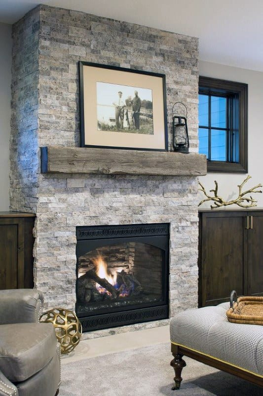 Top 60 best fireplace mantel designs interior surround ideas - Stone fireplace surround ideas ...