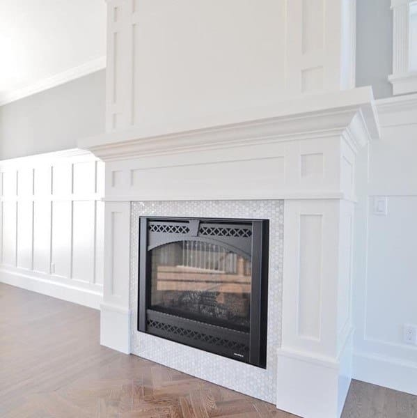 Fireplace With Millwork Wainscoting Ideas
