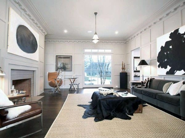 Fireplace With Modern Home Office Luxury Interior Designs