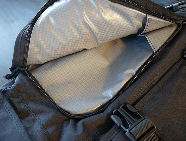 First Front Pocket Open Mission Workshop The Rhake
