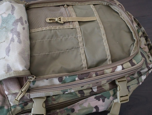 First Inner Compartment Mercury Tactical 3 Day Strech Backpack
