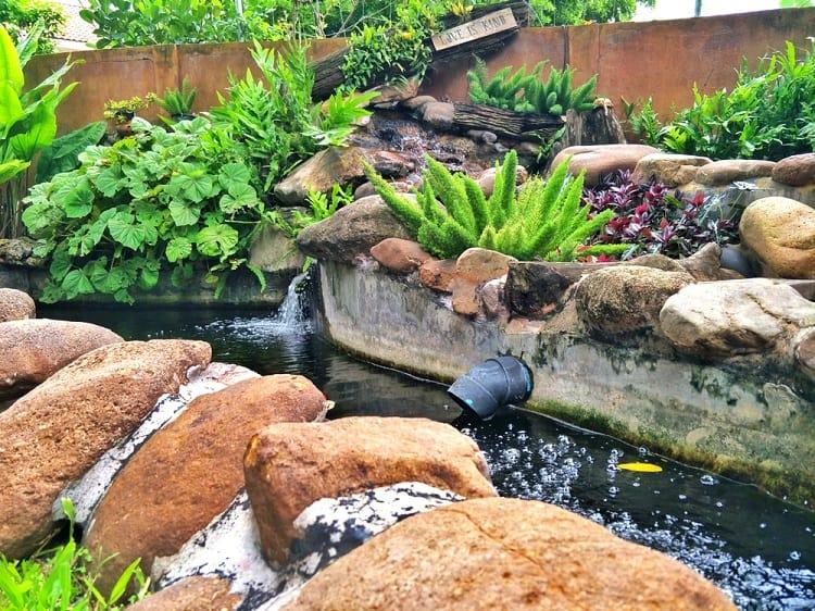 Fish Pond Bali Style Backyard Pond Landscaping